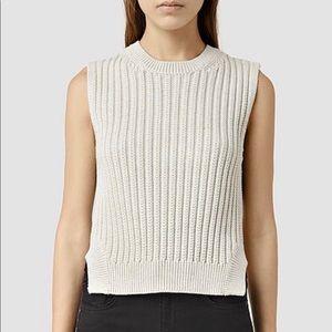 Allsaint wick rib sweater tank size L euc
